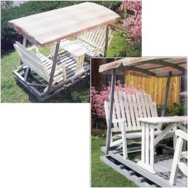 Lawn Glider With Canopy Downloadable Plan Rocker