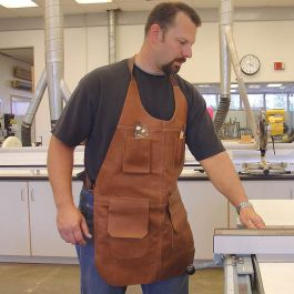 Long Leather Shop Apron Rockler Woodworking And Hardware