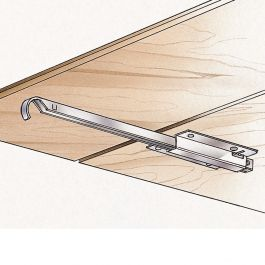 Metal Drop Leaf Support Pair Rockler Woodworking And