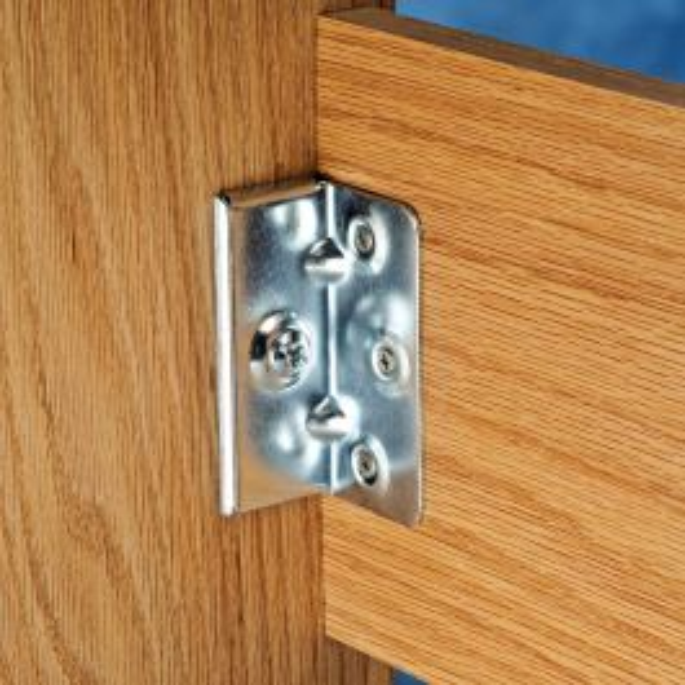 No Mortise Bed Rail Brackets 4 Pack Rockler Woodworking