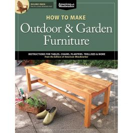 How To Make Outdoor And Garden Furniture Book Rockler Woodworking Hardware