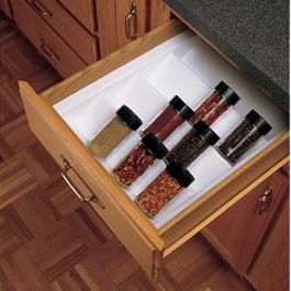 Individual Spice Drawer Insert Glossy White St 2gw 52