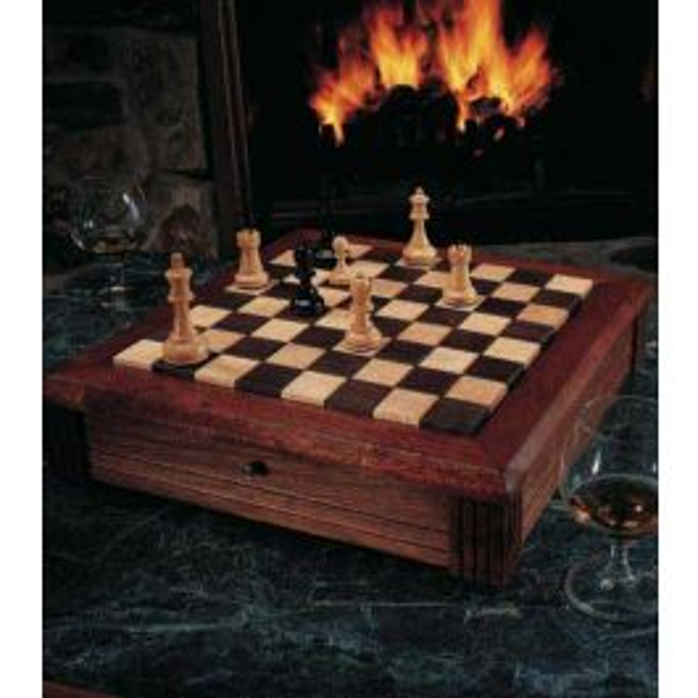 Woodworker S Journal Classic Chess Board Plan Rockler