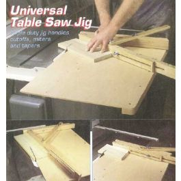 Woodworker S Journal Universal Table Saw Jig Plan