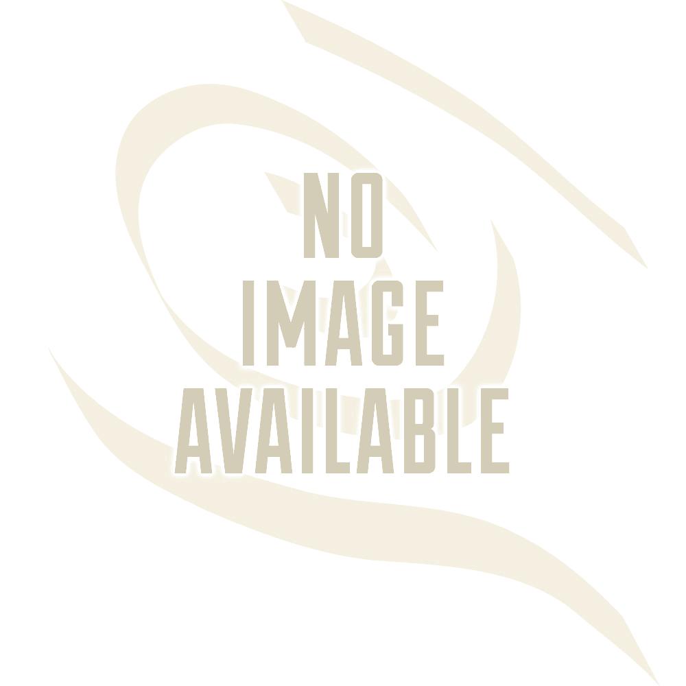 Berenson Manchester Knob, Round 9422-339-C - Polished Chrome/White Finish