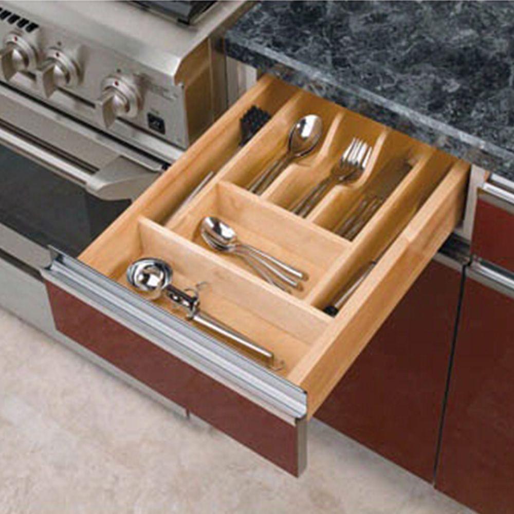 Wood Kitchen Drawer Organizer Inserts Rev A Shelf 4wct Series Rockler Woodworking And Hardware