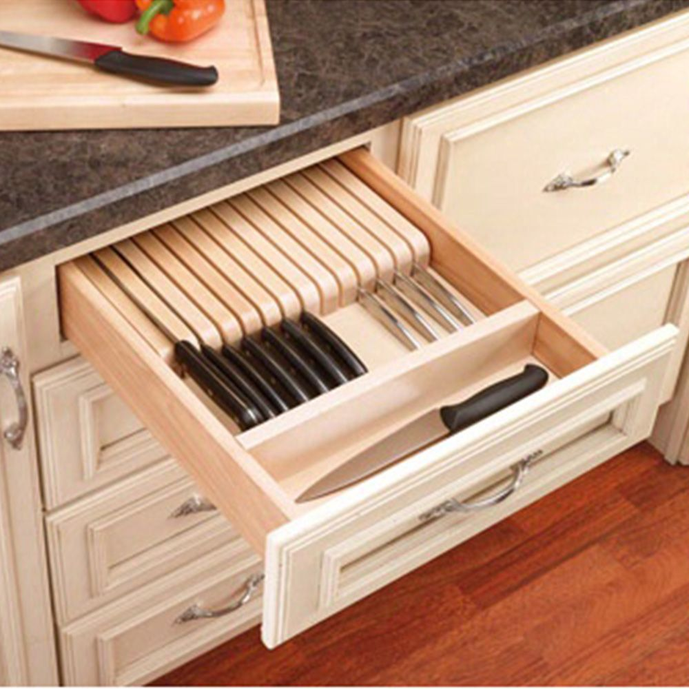 Trimmable Knife Block With Divider Wood Maple 4wkb 1 Rockler Woodworking And Hardware