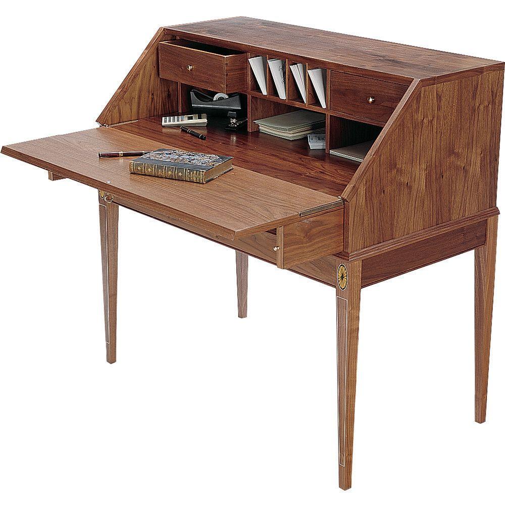 Federal Desk Plan And Desk Support Hinge Set Rockler Woodworking Tools