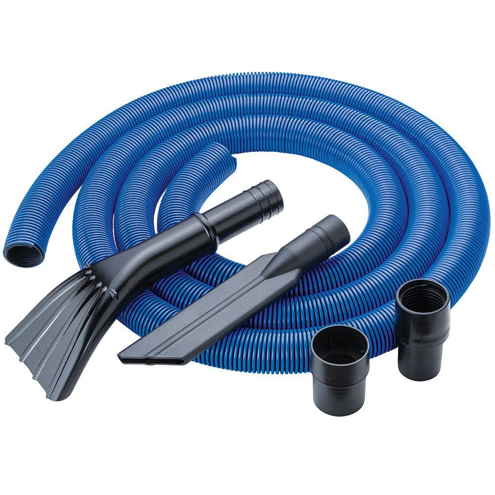 Flexible Long Vacuum Hose Orange Crush proof Plastic 1 1//4 x 50 ft Long Length