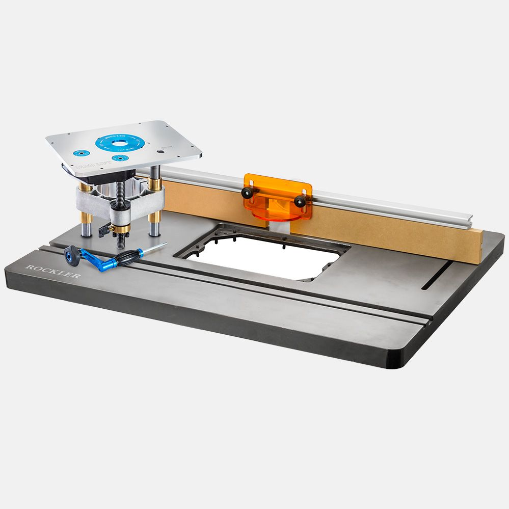 Rockler ProMax Cast Iron Router Table Top, Pro Lift and 32