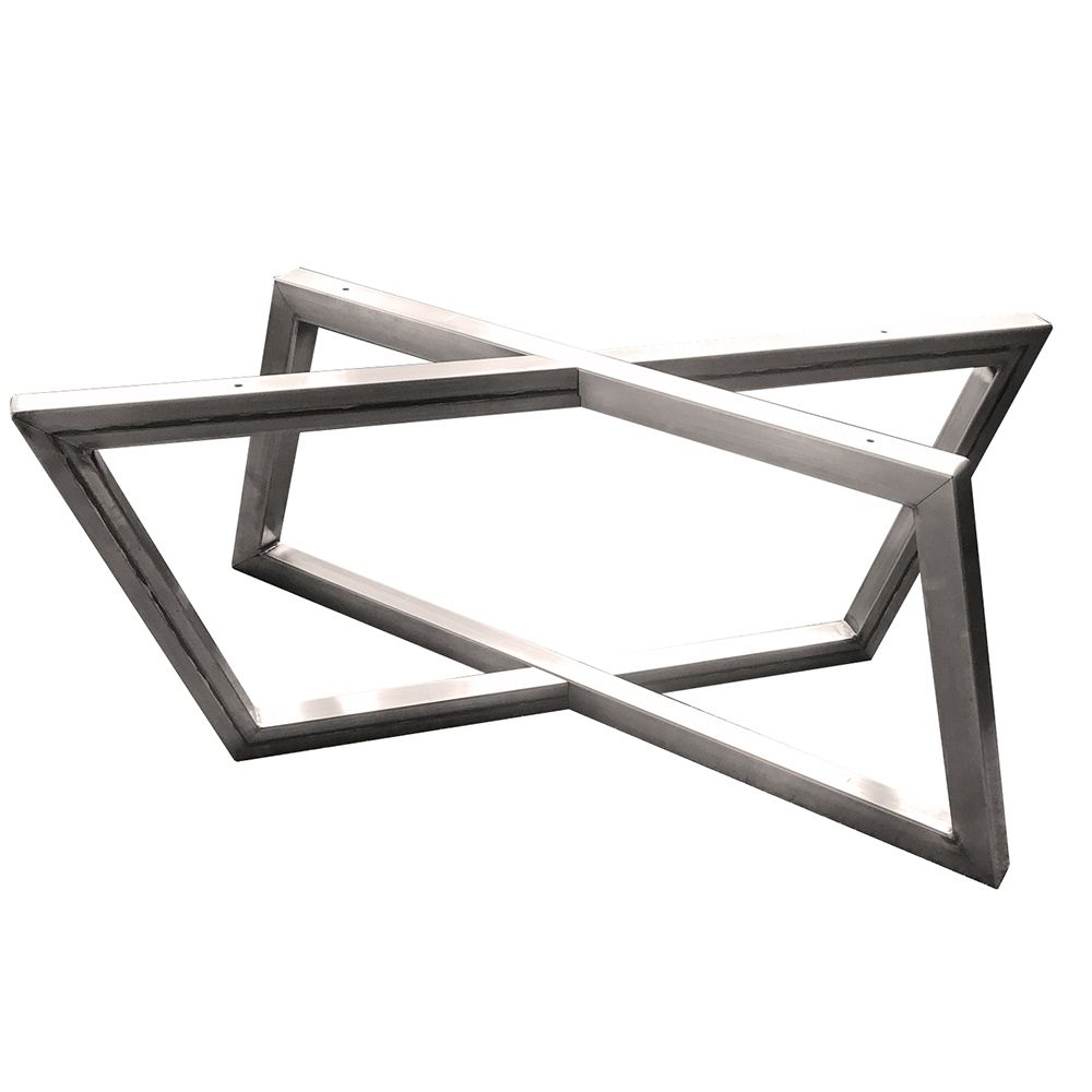 15 1 2 H Rhombus Welded Steel Coffee Table Base Unfinished Rockler