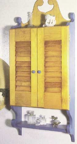 Woodworker S Journal Pine Wall Cabinet With Louvered Doors Plan Rockler Woodworking And Hardware