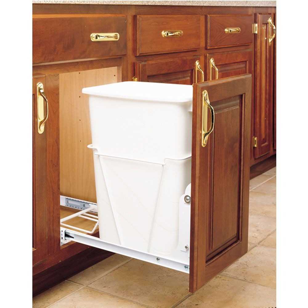 20 qt. Vanity Waste Container with basket (RV-14PBS)   Rockler ...