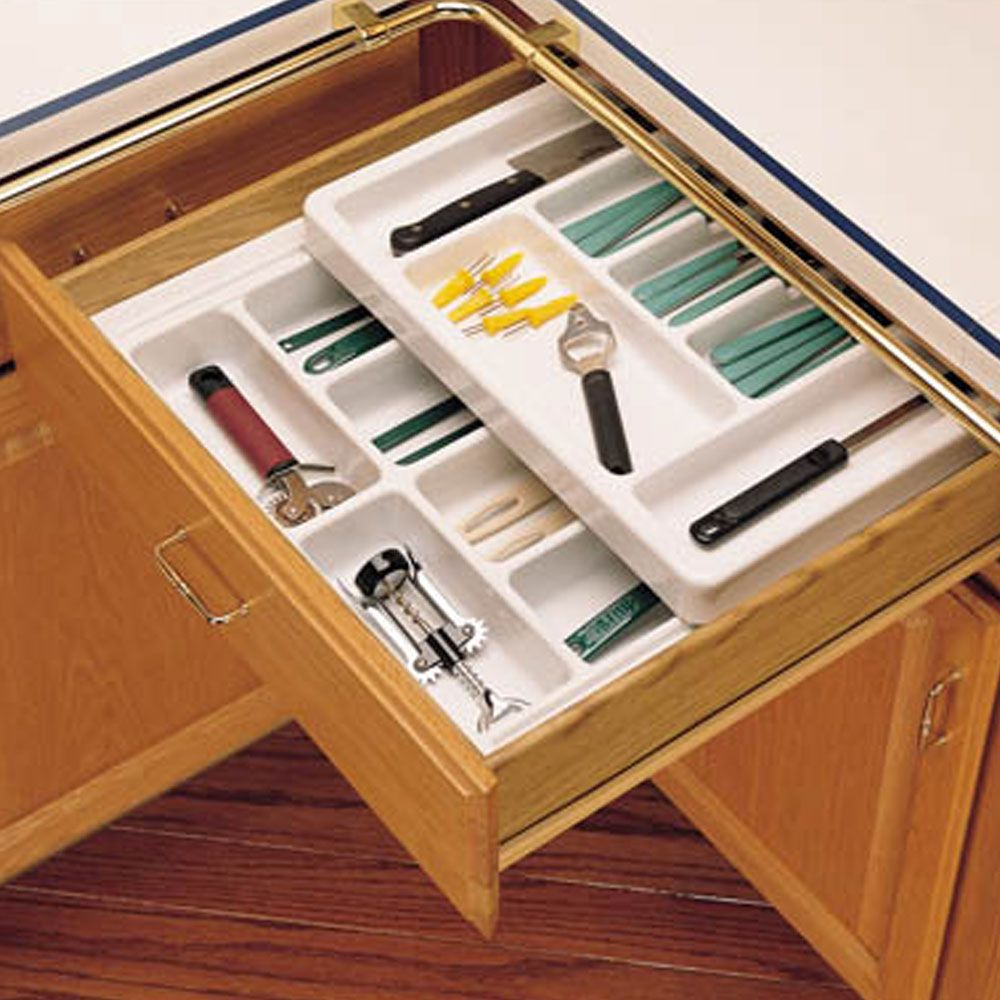 Rolling tray kitchen drawer organizers rev a shelf rt series 21 3 4 wide