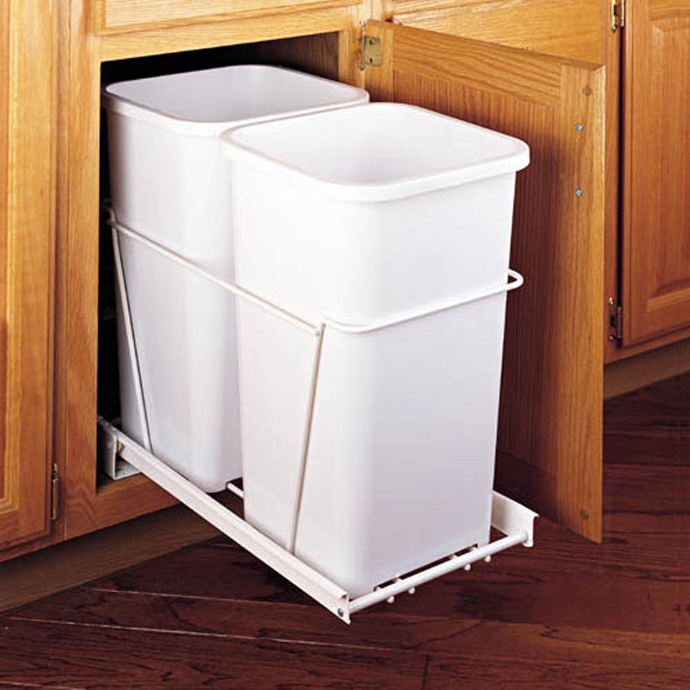 Rev A Shelf Double Bottom Mount Waste Container Pullout