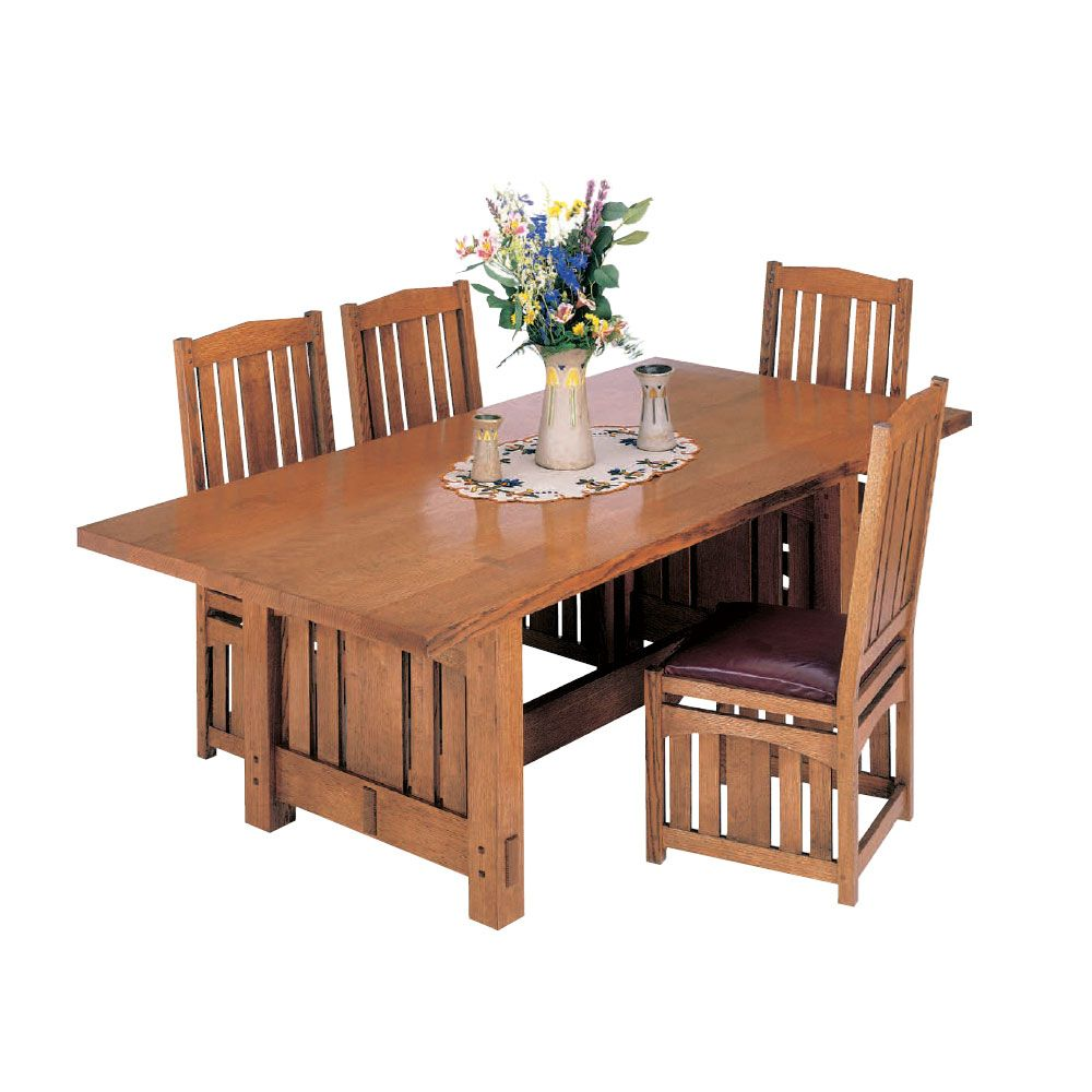Free Dining Room Table Plans: Woodworker's Journal Stickley-Inspired Dining Table Plan