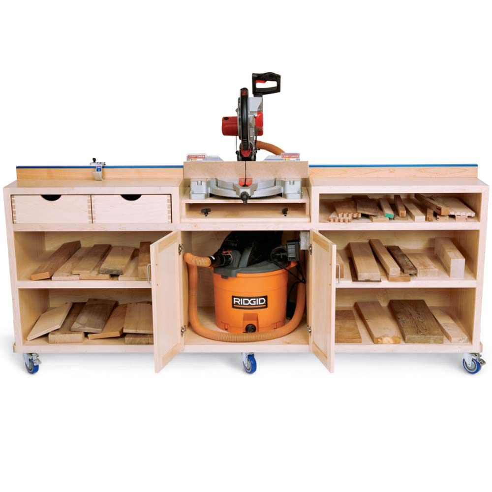 Woodworker's Journal - Ultimate Miter Saw Stand Plan ...