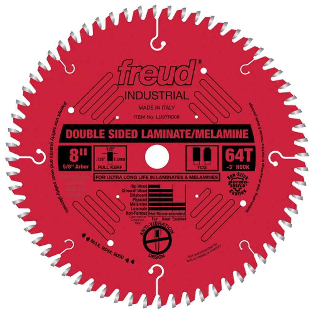 Freud 174 Lu97r Industrial Double Sided Laminate Melamine Saw