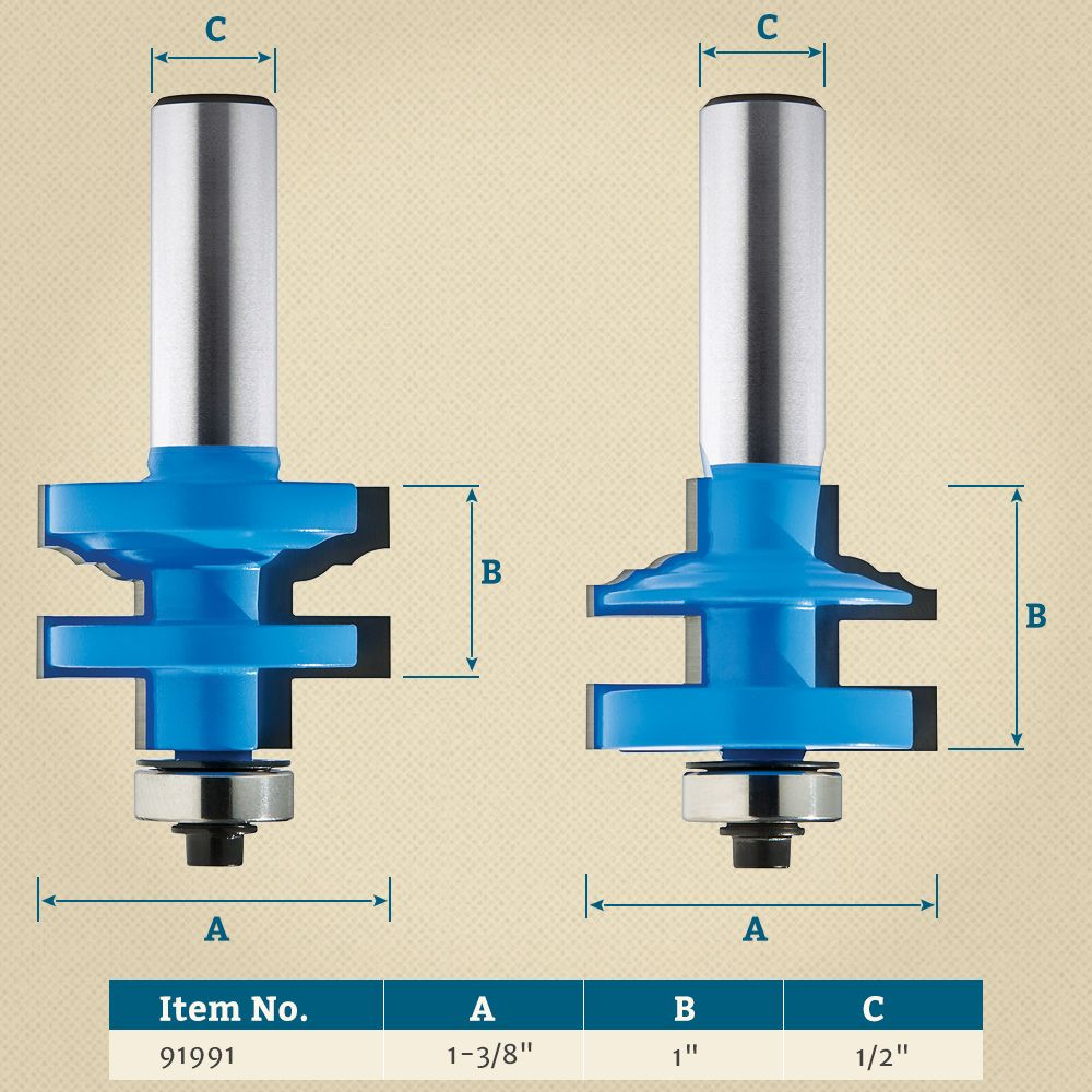 1 3 8 Classical Stile And Rail Router Bit Rockler