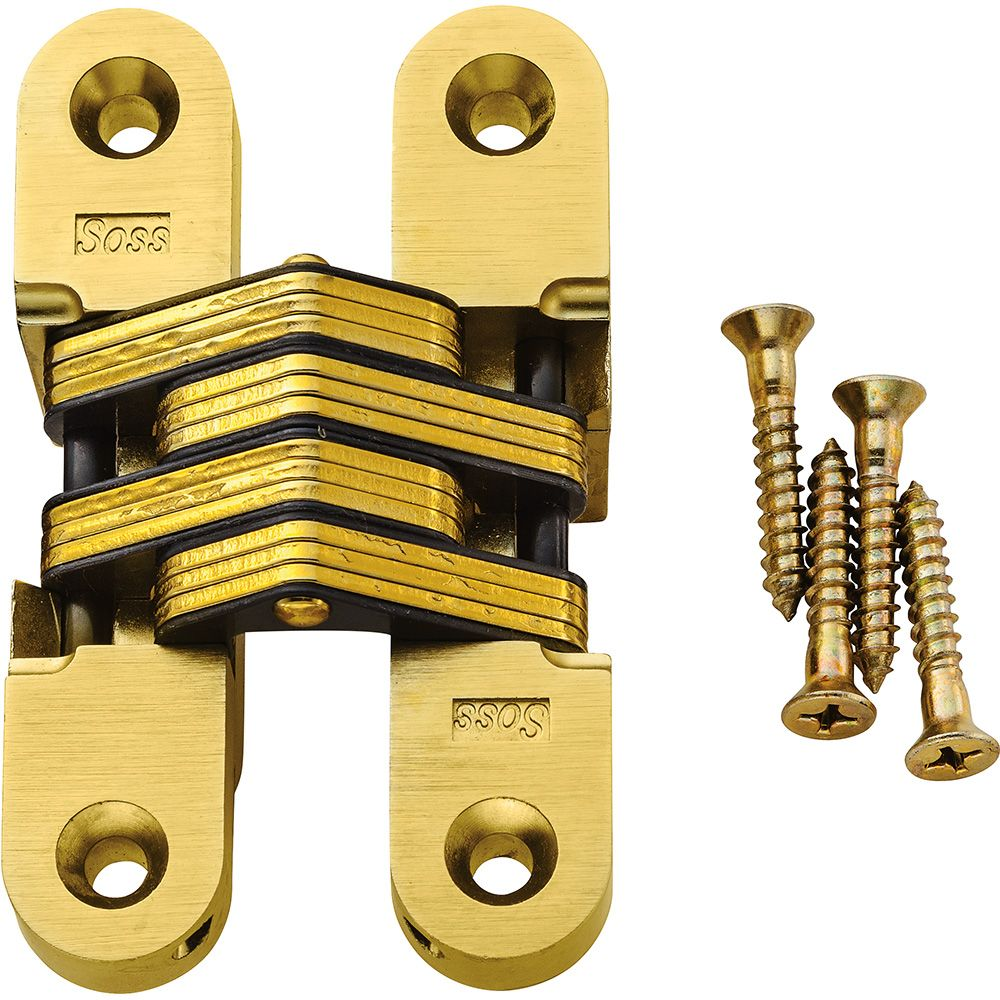 Concealed Soss Hinges-Satin Brass Finish | Rockler Woodworking and ...