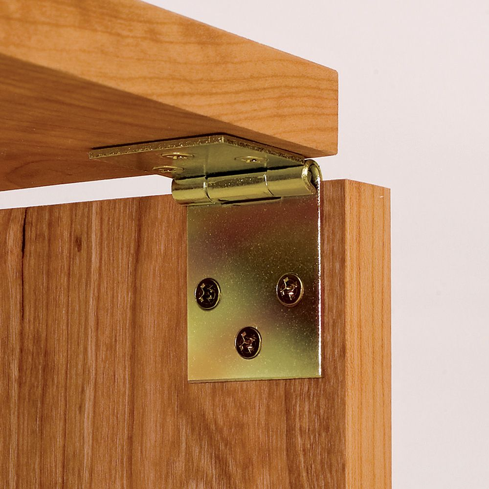 Yellow Zinc Plated Drop Leaf Hinges For Straight Edges