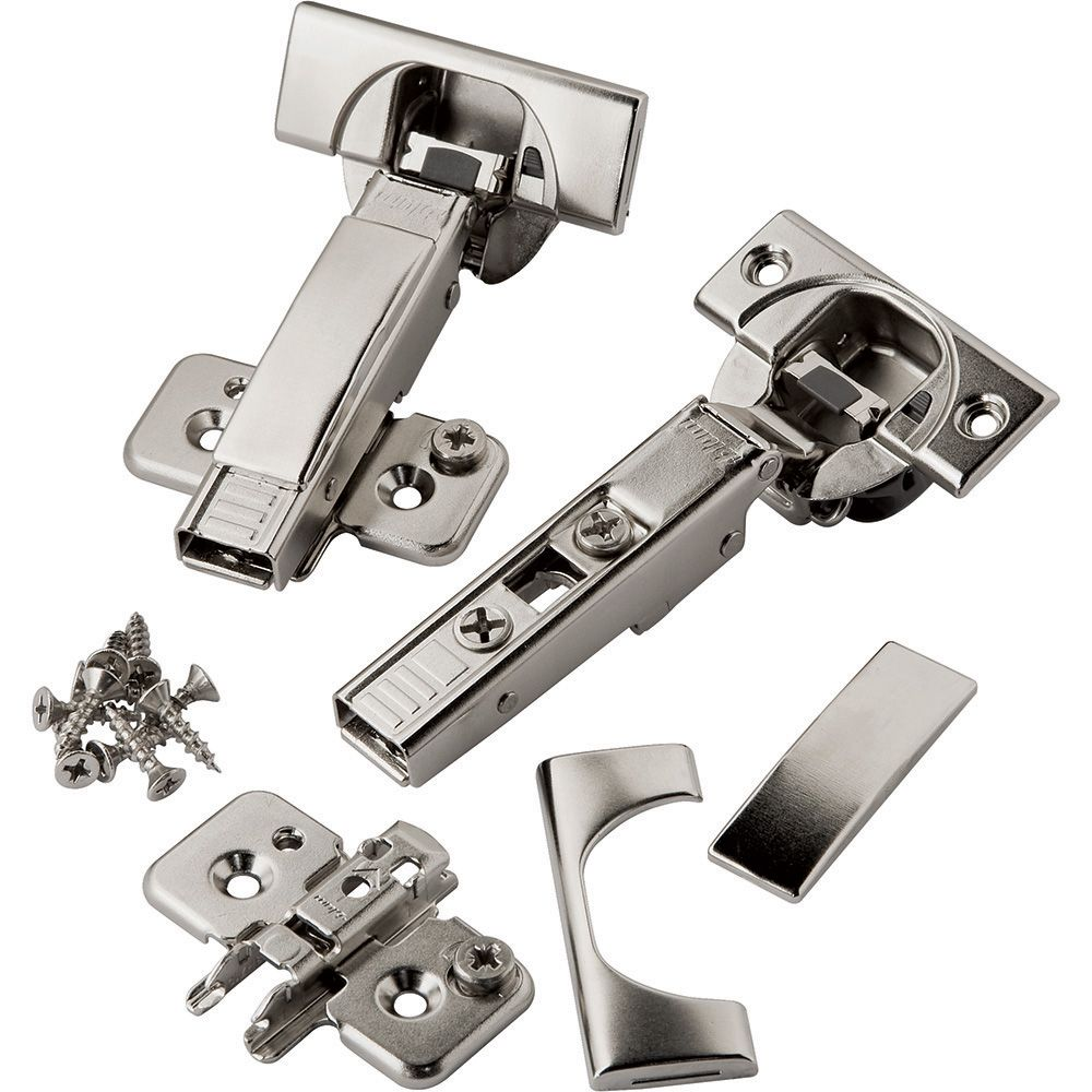 Pair Of Blum 110 Degree Soft Close Blumotion Clip Top Overlay Hinges For Frameless Cabinets