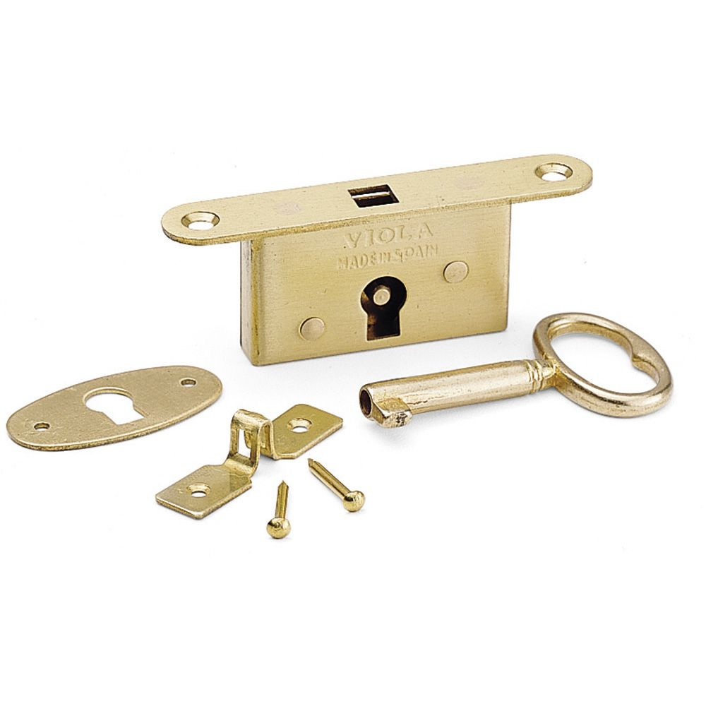 Full Mortise Small Box Lock | Rockler Woodworking and Hardware