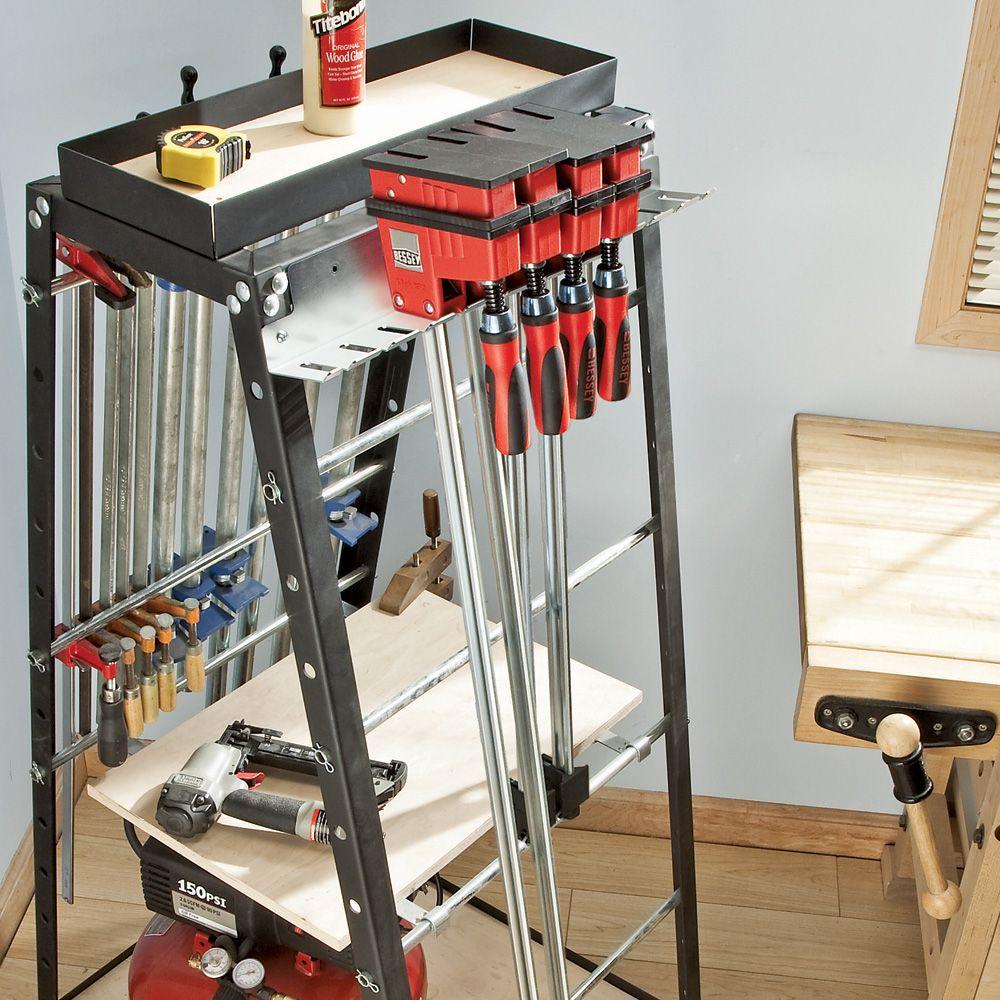 Clamp Rack Combo, 3 Rack Set - Rockler Woodworking Tools