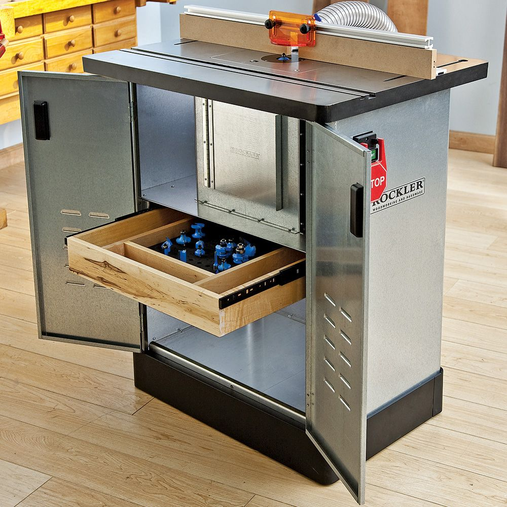 Rockler Steel Router Table Cabinet Rockler Woodworking And Hardware