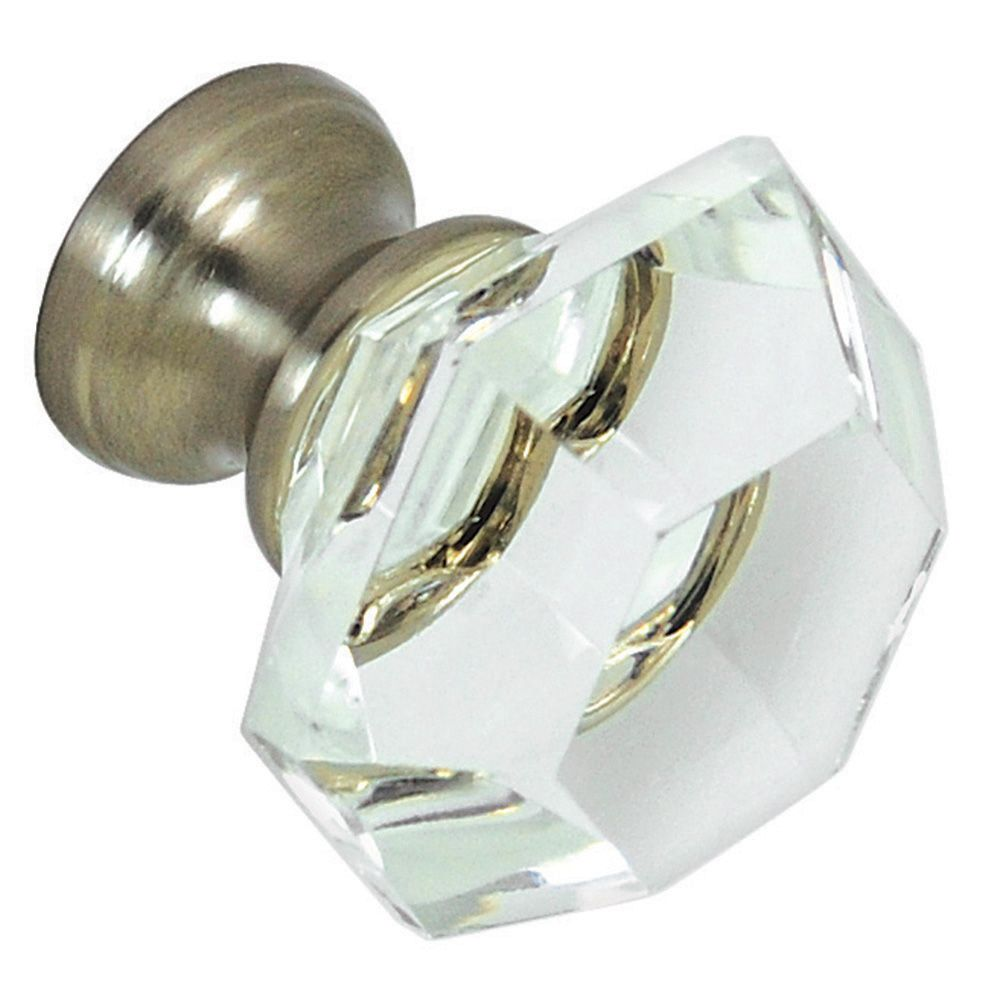 G75 Clear Glass Knob With Brushed Nickel Base Rockler
