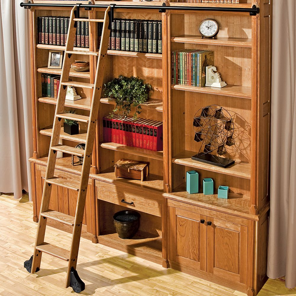 9 Rockler Classic Rolling Library Ladder