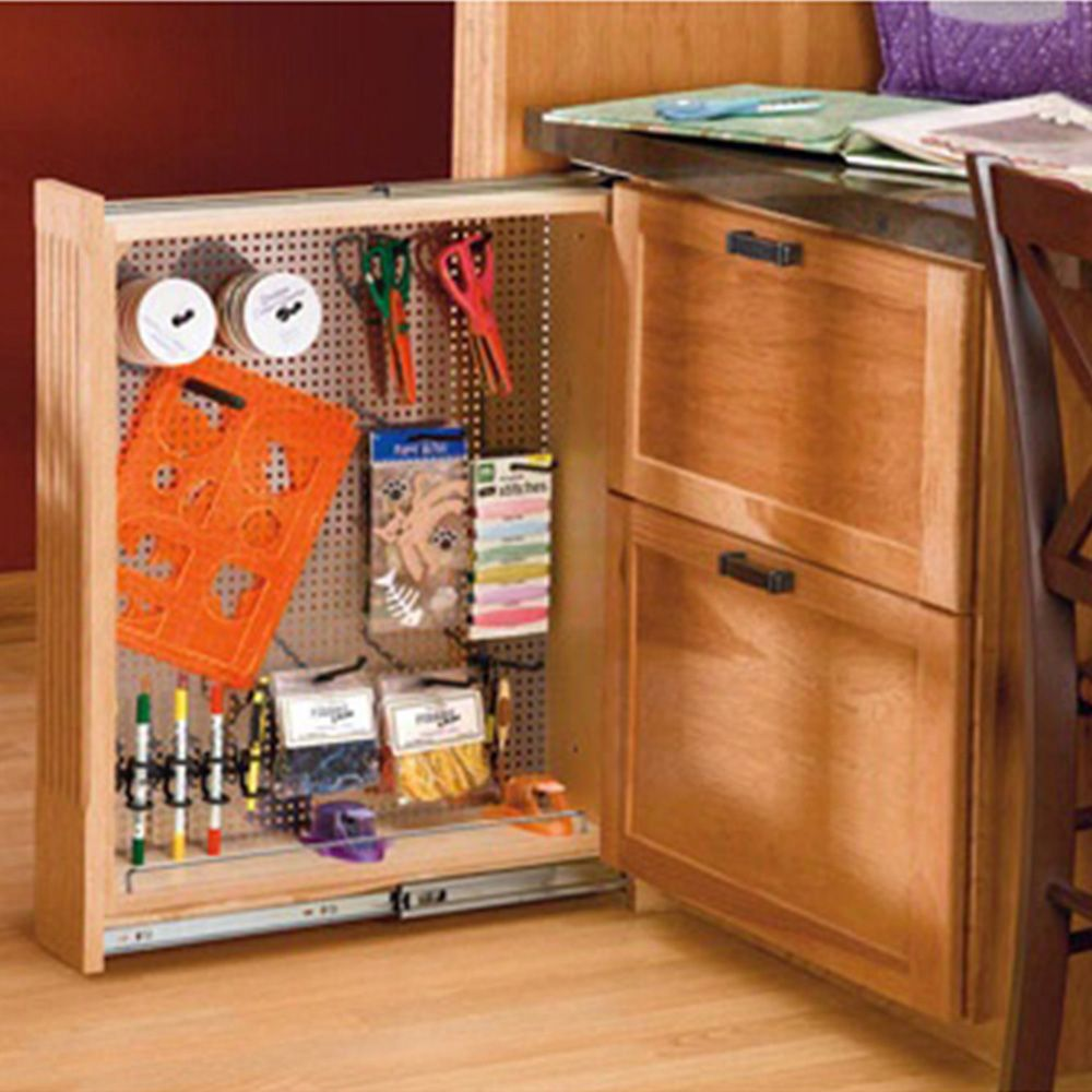 Rev A Shelf Filler Pullout Organizer W Stainless Steel
