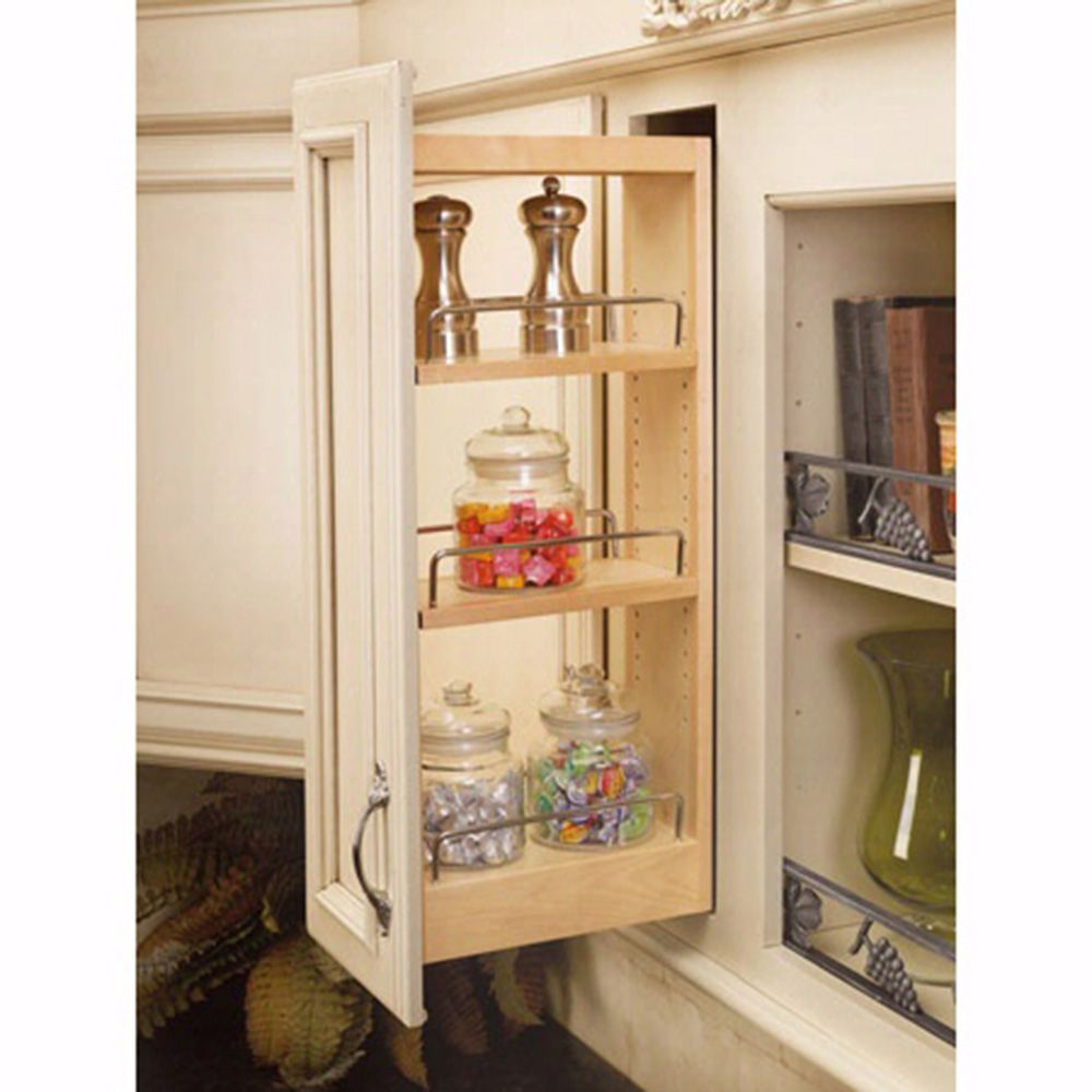 Wall Cabinet Wood Pullout Organizers Rev A Shelf 448 Series