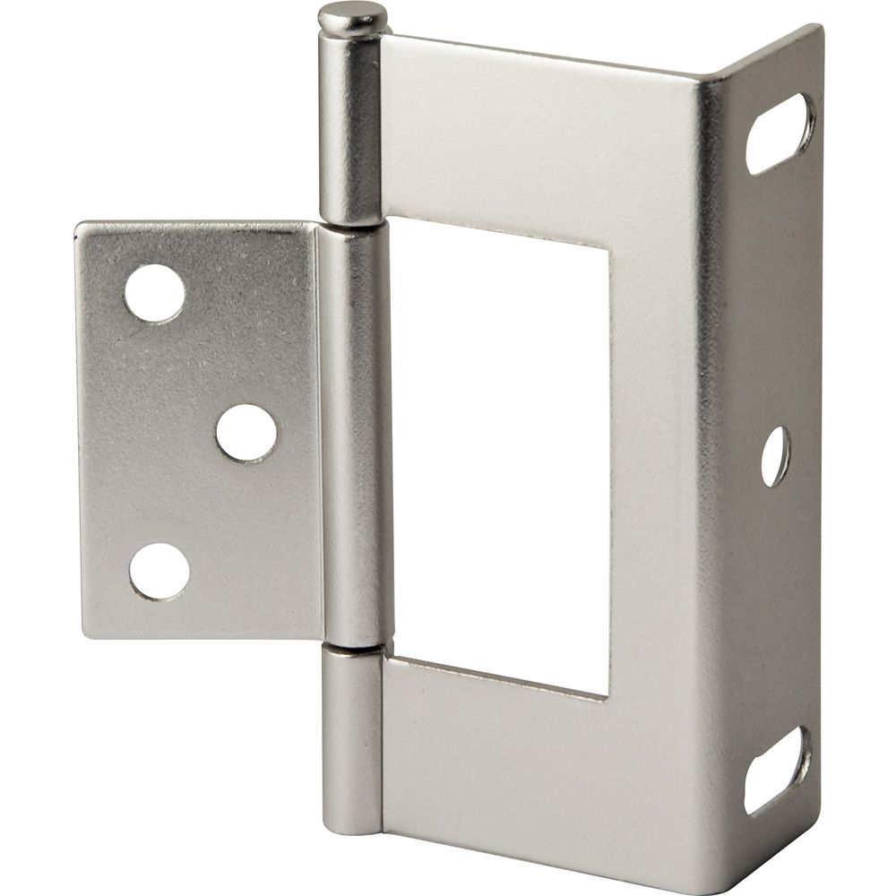3 Quot Satin Nickel Non Mortise Wrap Hinges Rockler