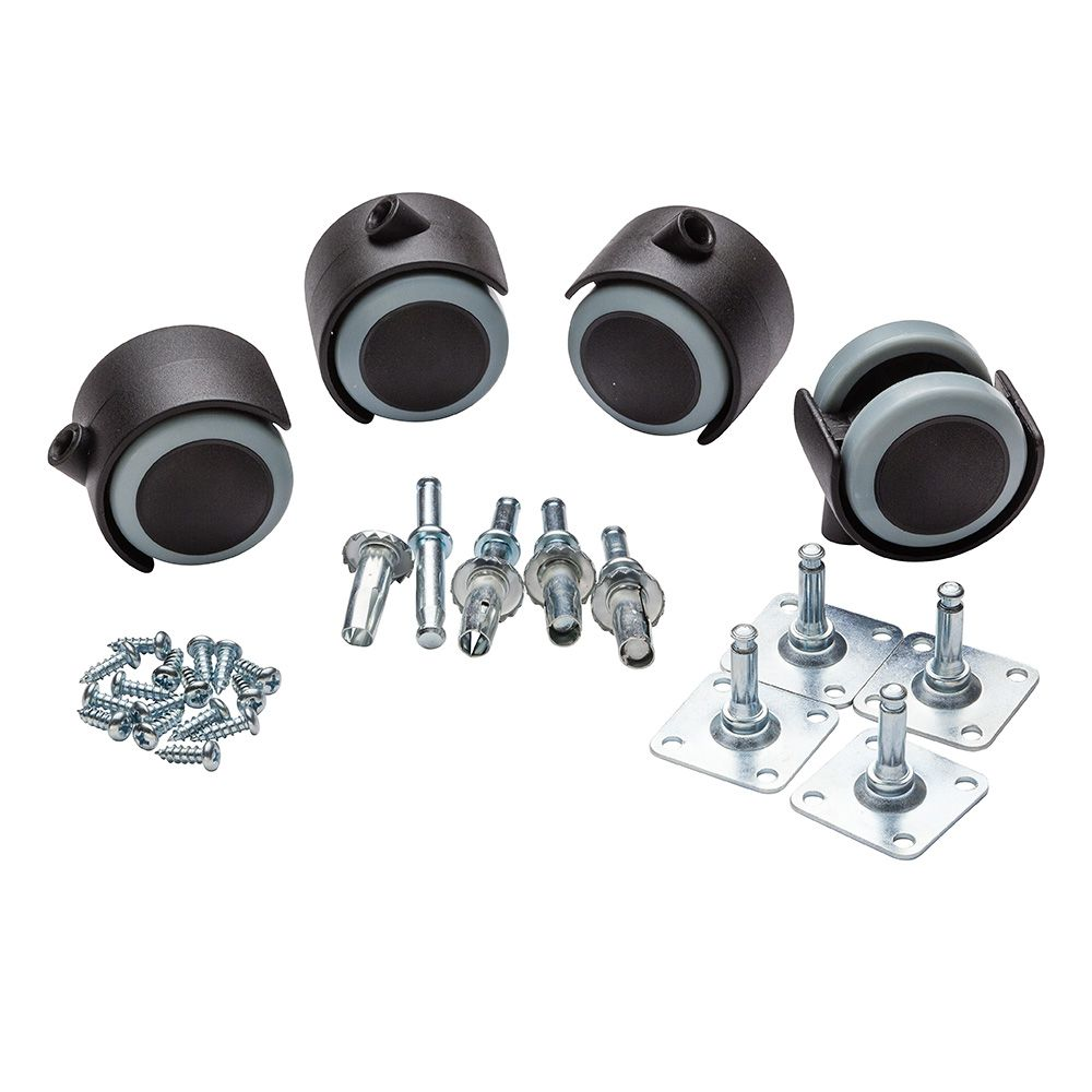 Slipstick Cb681 2 Rubber Casters With Stem And Plate