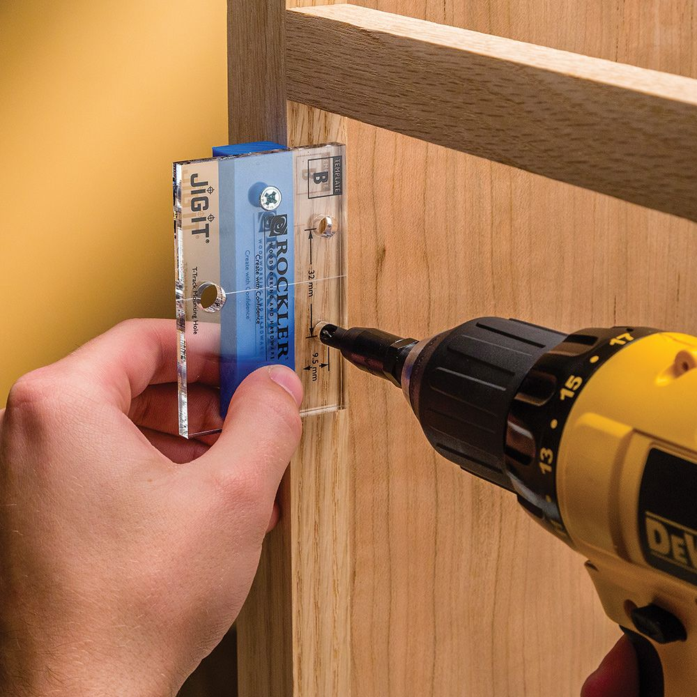 Jig It 174 Hinge Plate Template B Rockler Woodworking And