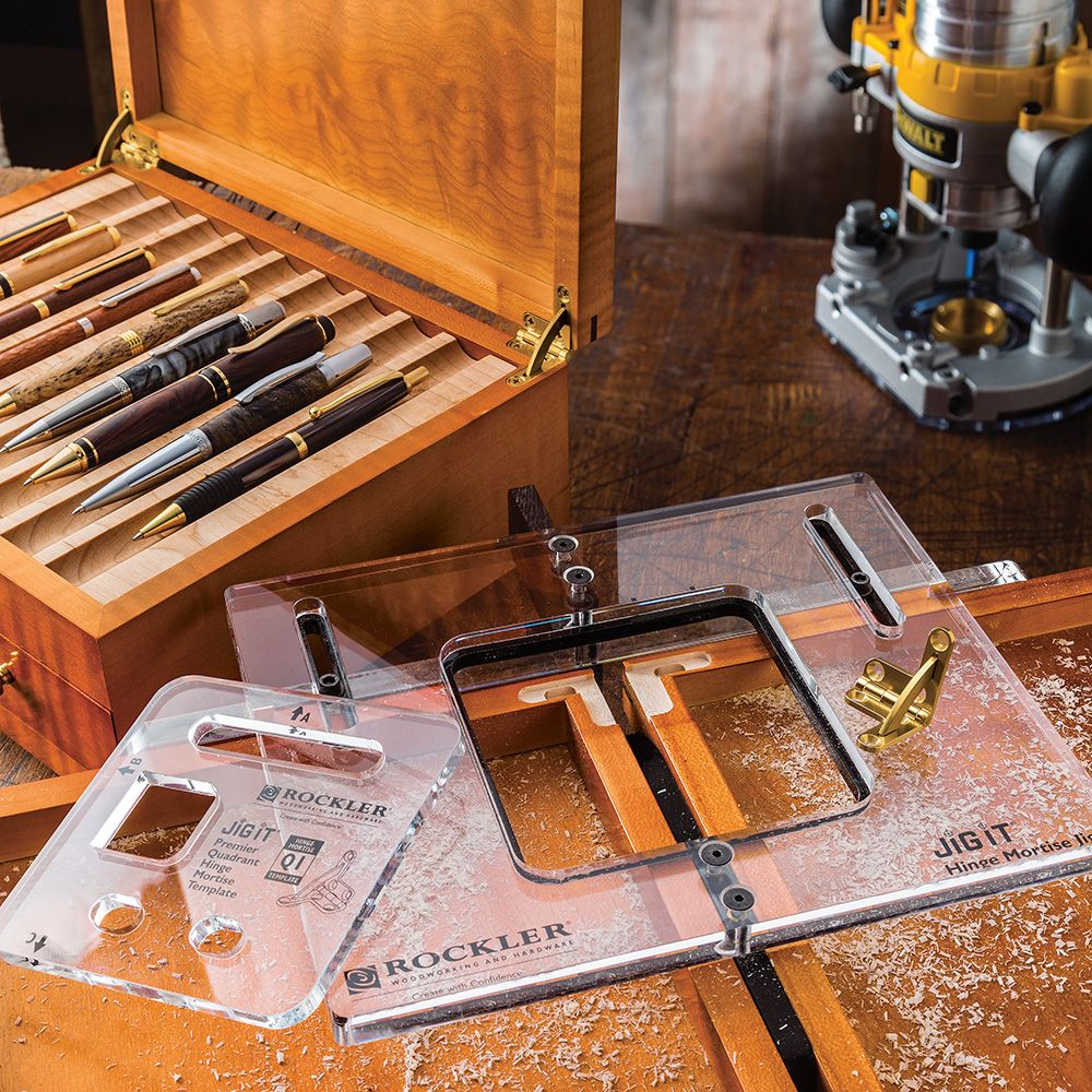 Jig It 174 Hinge Mortising System Rockler Woodworking And
