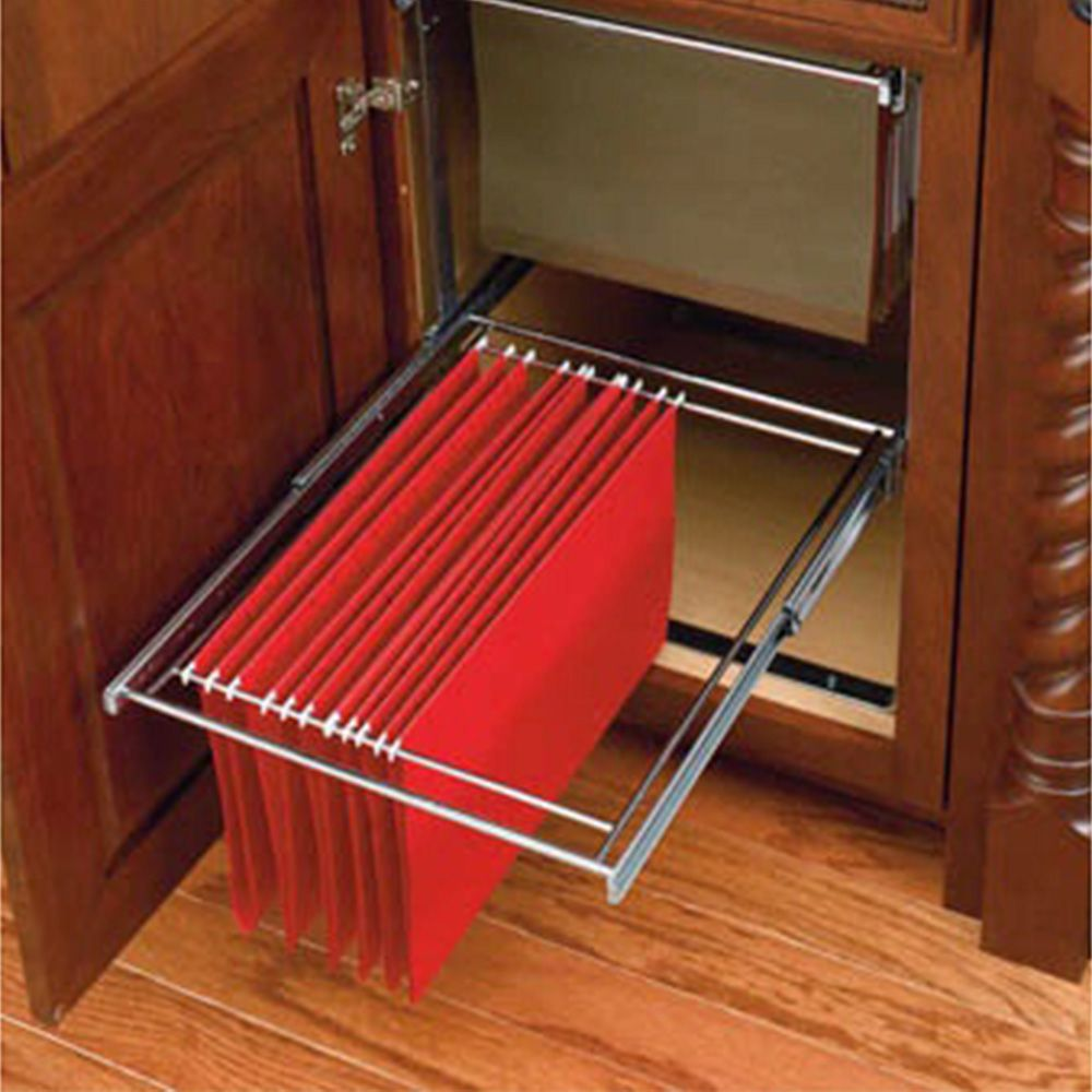 Two Tier File Drawer System Chrome Wire Ras Fd Kit