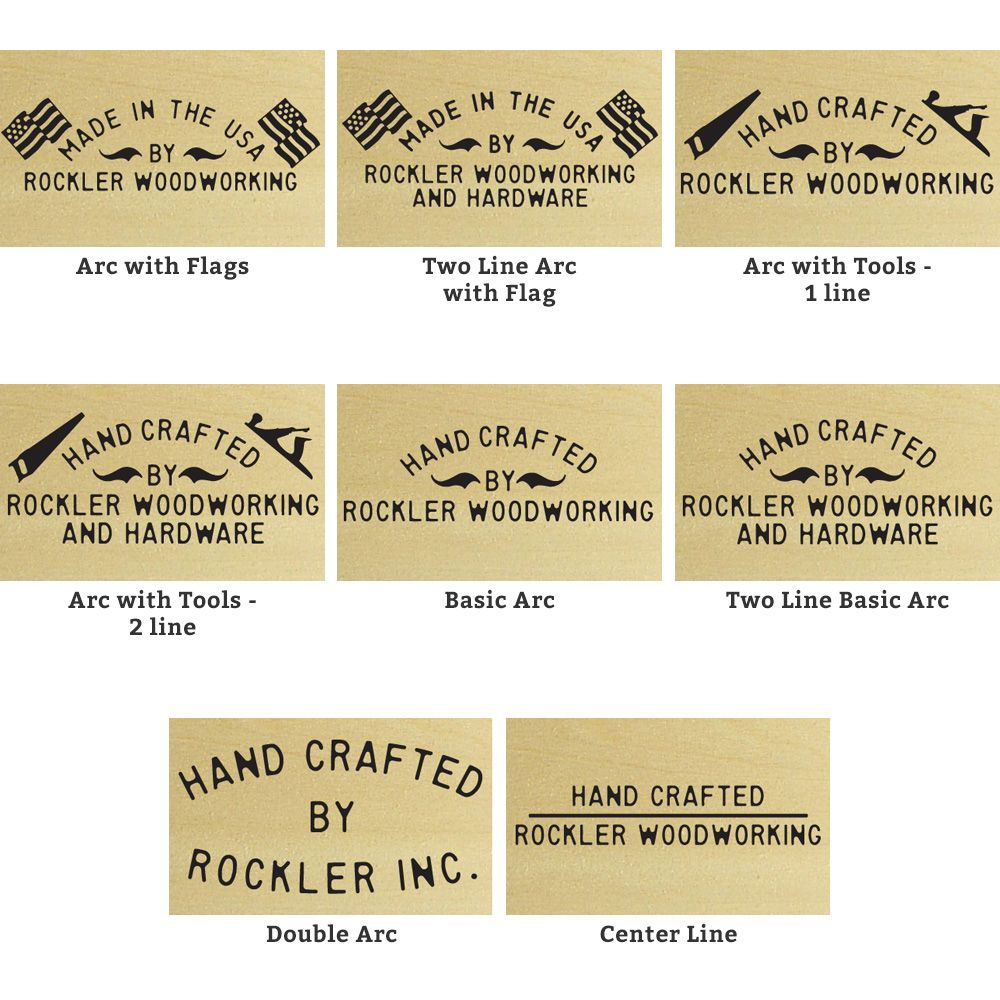Custom Branding Iron 22 Styles Available Rockler Woodworking And