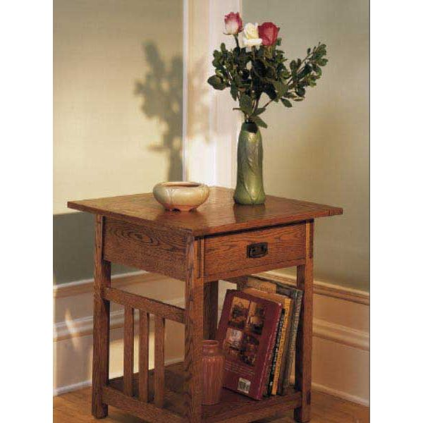 Woodworker's Journal Arts & Crafts End Tables Plan ...