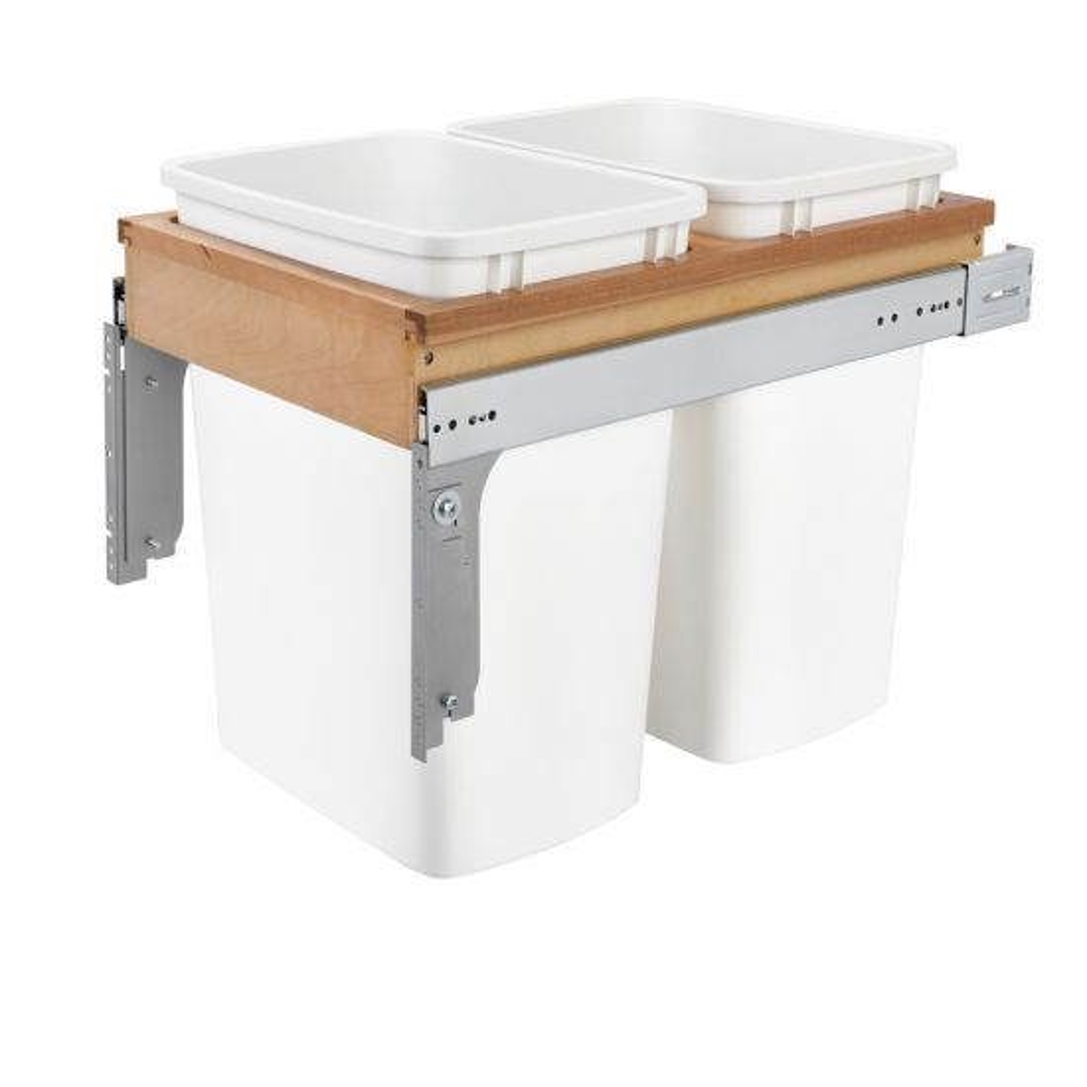 Rev-A-Shelf Wood-Frame Trash Pull-Outs