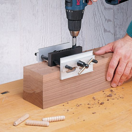 Self Centering Doweling Jig for Thick Timbers