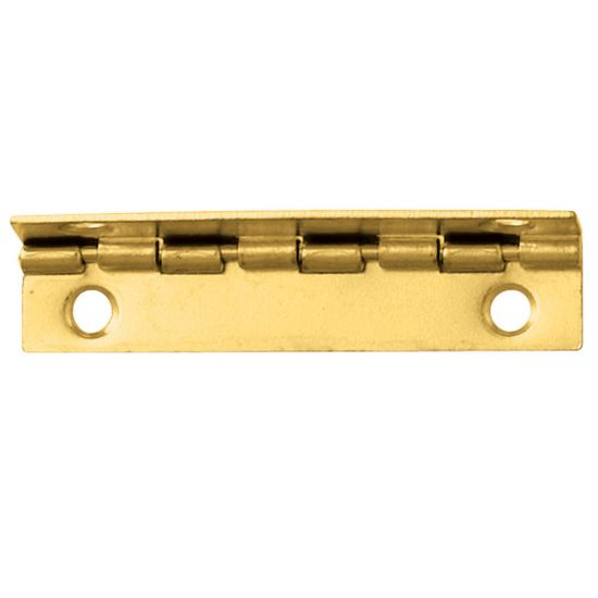 Brass-Plated Small Box Stop Hinge