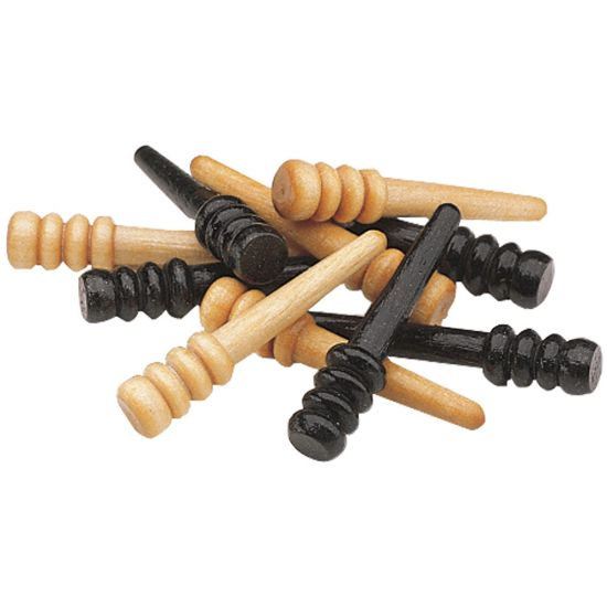 Wooden Cribbage Pegs, Set of 10