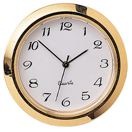 Small Decorator Clock Fitting, Gold Trim
