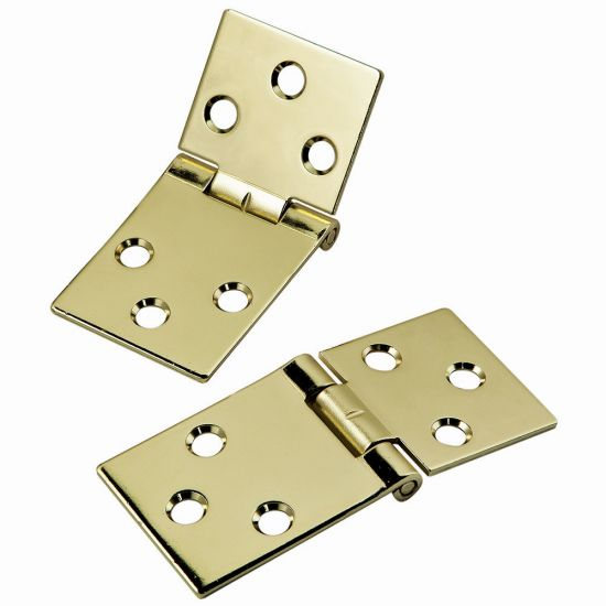 Brass-Plated Drop Leaf Hinges for Shaped Edges