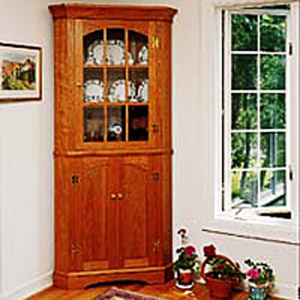 Traditional Corner Cabinet Plan