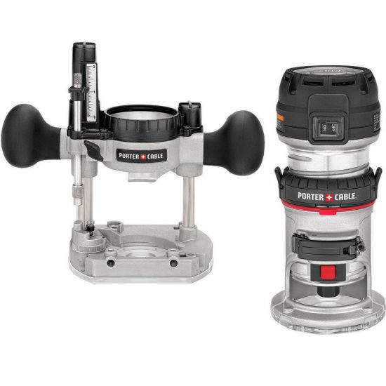 Porter Cable 450PK Compact Router Combo with Fixed and Plunge Bases