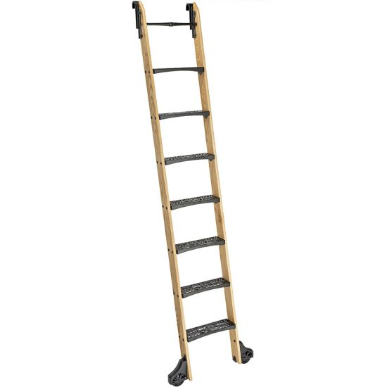 8' Vertical Rails for Rockler Vintage Library Ladder Steps