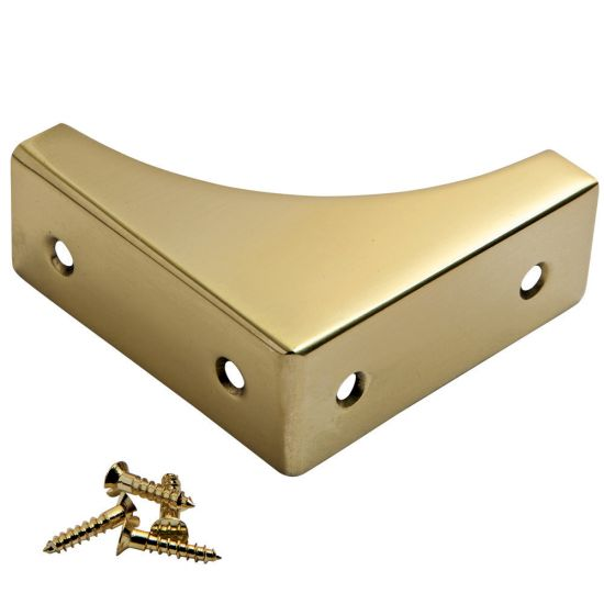 Solid Brass 2'' x 3/4'' Box Corners